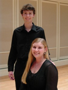 Maggie Yoder & Andrew Nowicki, Former Winners of Student Concerto Competition